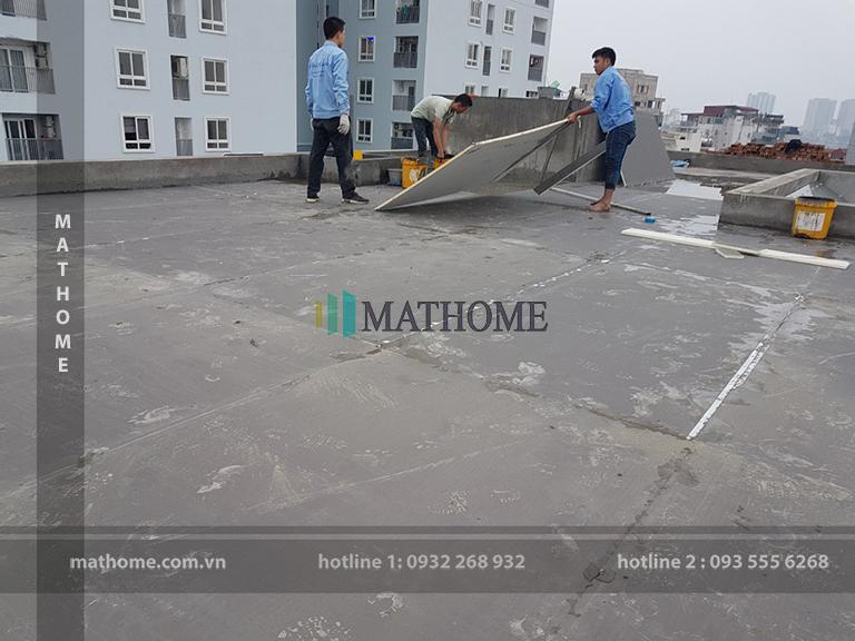 Gachmat (gạch mát) chống nóng cho cho mái bằng, mái bê tông